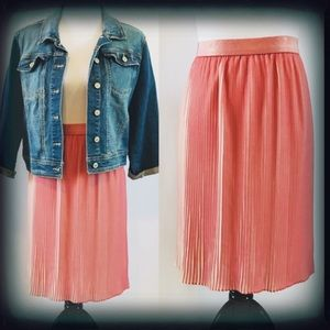 Apt 9 A-Line High Low Pleated Skirt Sz Large